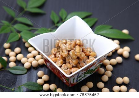 Japanese traditional food NATTO