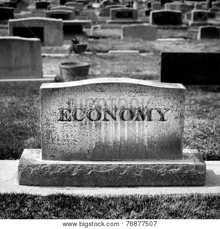 Gravestone for Economy and Investments