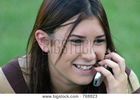 Girl Laughing on Cell
