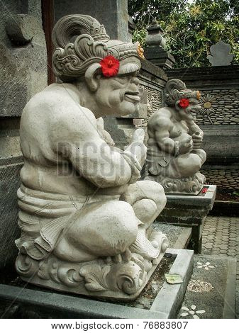 Ubud Stone Carving Pair