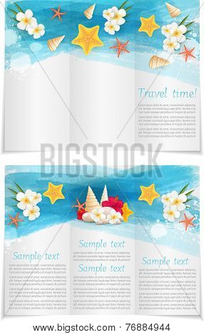 Trifold Template Booklet For Travel Advertise