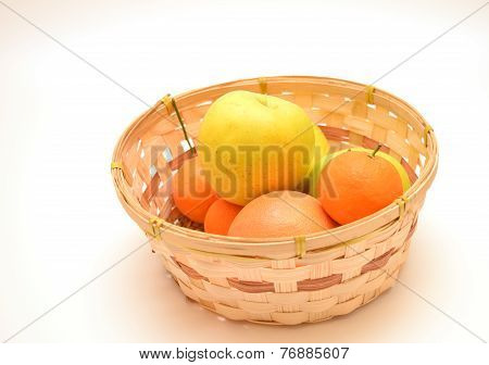 Fruits In Woven Basket