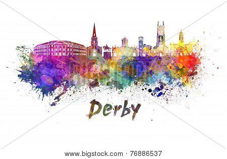 Derby Skyline In Watercolor