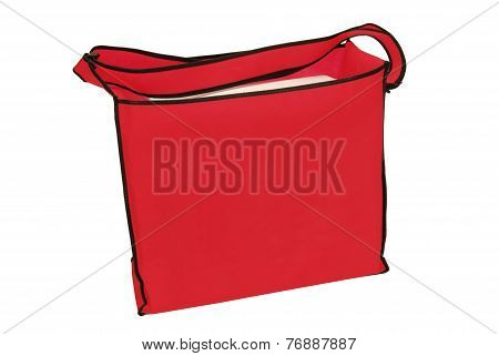 Big Red Tote Bag With Copy Space