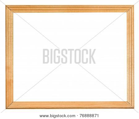 Ordinary Narrow Wooden Frame With Cut Out Canvas