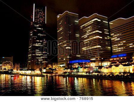 poster of Yokohama City at night