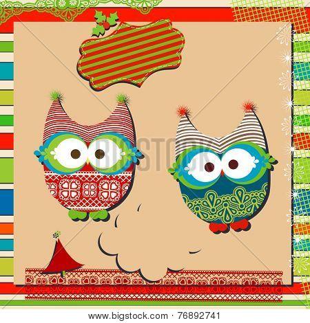 christmas cute owls