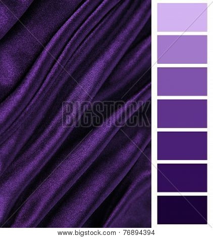 violet fabric closeup