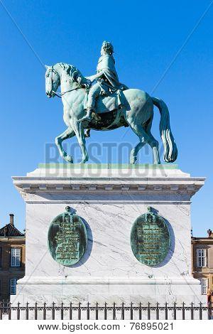 Statue At Royal Palace Amalienborg