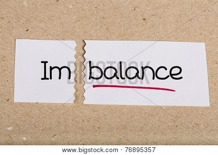 Sign With Word Imbalance Turned Into Balance
