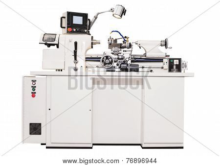 Grey Metalworking  Lathe Machine