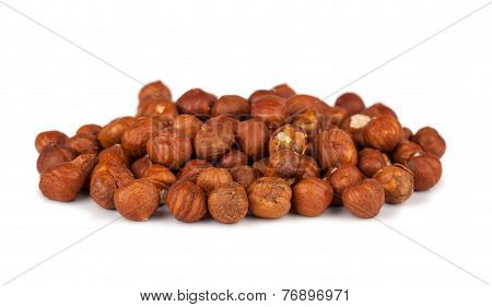 Heap Of Peeled Filbert Nuts