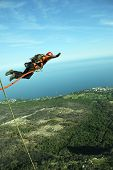 image of sky diving  - jumping - JPG