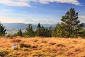 stock photo of pieniny  - autumn mountain landscape - JPG