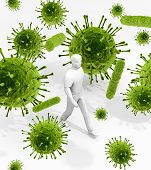 picture of e coli  - An illustration related to the infectious environment of viruses and bacteria that we are surrounded with everywhere and every day of our lives - JPG