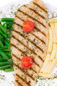stock photo of pangasius  - Fresh grilled fillet of pangasius - JPG