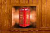 foto of phone-booth  - Classic British red phone booth in London UK - JPG