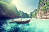 pic of phi phi  - bay at Phi phi island in Thailand - JPG