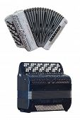 pic of accordion  - Image of accordion under the white background - JPG