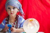 picture of fortune-teller  - particular of little  child fortune teller - JPG