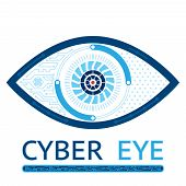 pic of biotechnology  - Cyber eye symbol vector icon or cyber logo concept - JPG
