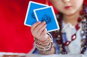 foto of fortune-teller  - Particular of  little fortune Teller - JPG