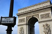 stock photo of charles de gaulle  - Arc de Triomphe at Place Charles de Gaulle in Paris - JPG