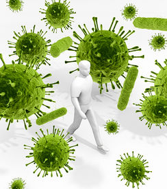 picture of toxic substance  - An illustration related to the infectious environment of viruses and bacteria that we are surrounded with everywhere and every day of our lives - JPG