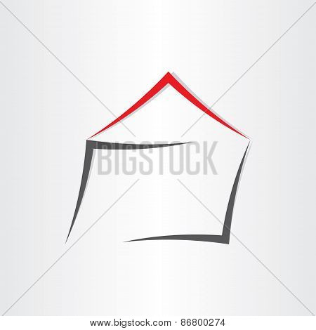 Stylized House Home Icon