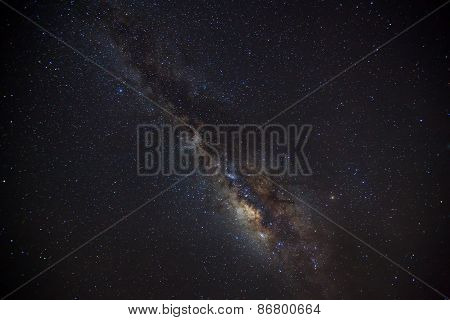 beautiful milkyway on a night sky, Long exposure photograph.