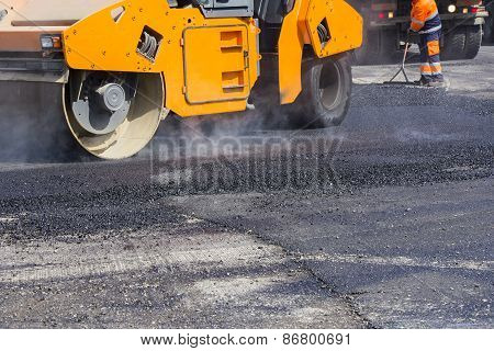 Asphalting City Streets