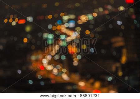 Bangkok express way, Abstract blur image