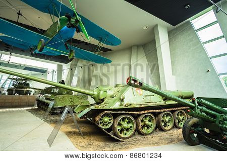 Exposure Of Weapons And Equipment In The Belarusian Museum Of Th