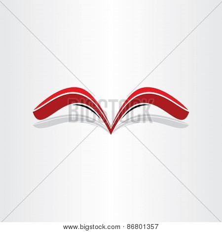 Red Book Abstract Stylized Design