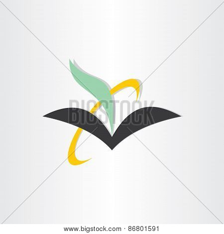 Book And Feather Education Icon