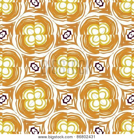Abstract Background Ornament Geometric Vintage Seamless