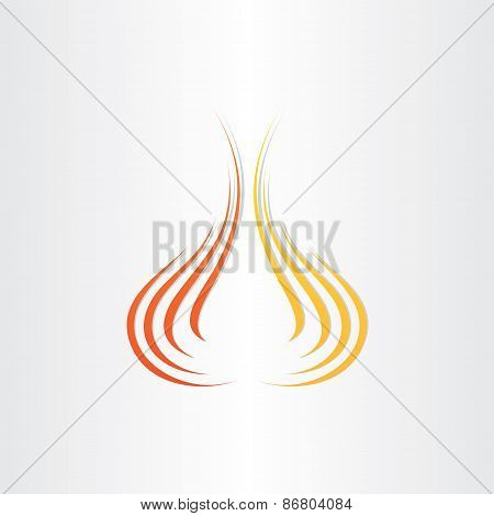 Abstract Fire Symbol Background