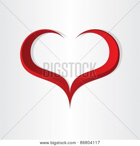 Red Heart Shape Abstract Icon Design