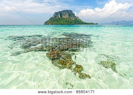 Tropical Island Located In Krabi Province, Thailand.