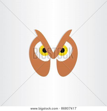 Owl Head Icon Design