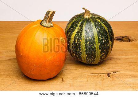 Orange Green Calabash Oak Surface
