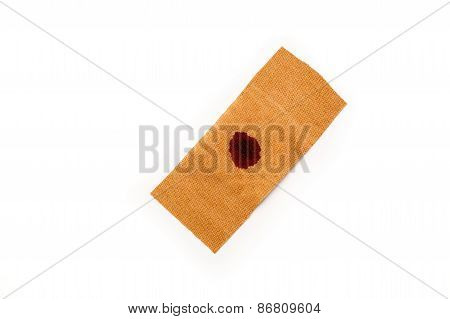 Band Aid Blood Isolated White