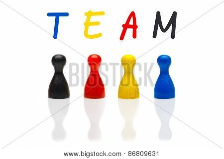 Concept Team, Teamwork, Organization Primary Color Black Shuffle