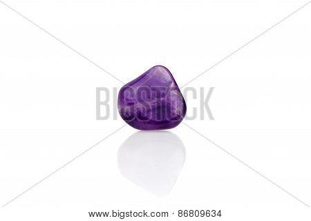 Purple Amethyst Back Light Isolated