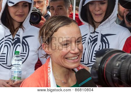 Deborah Toniolo Interviewed After The Race