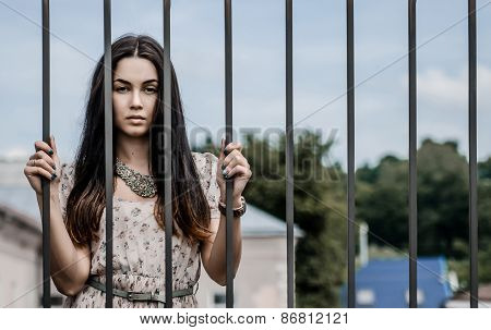 Pretty Girl Behind The Castle Gates