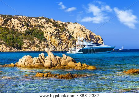 luxury vacation on Sardegna island. Italy