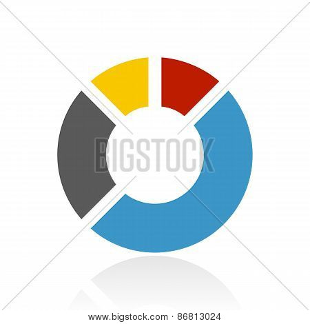 Color Donut Chart Icon