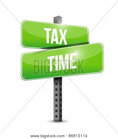 Tax Time Road Sign Illustration Design