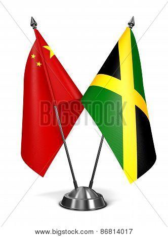 China and Jamaica - Miniature Flags.
